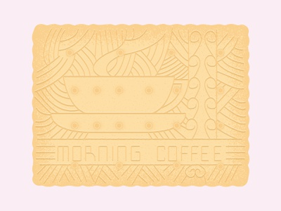 Daily Biscuit Challenge 38, The Morning Coffee Biscuit icon treat sugar food art drawing challenge daily biscuit rough design illustration colour vector