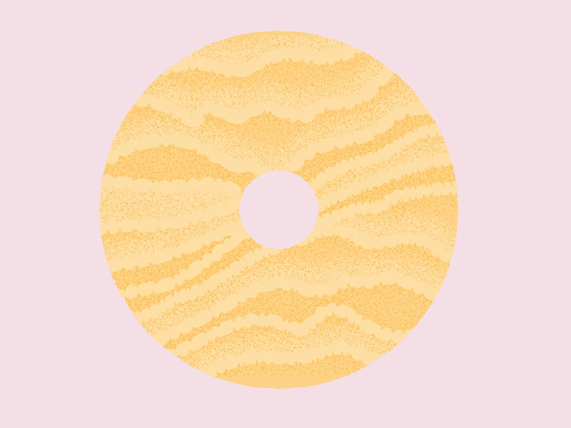 Daily Biscuit Challenge 40, The Coconut Ring coconut biscuit edges colour design rough illustration texture vector
