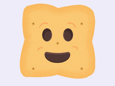 Daily Biscuit Challenge 41, The BN Biscuit biscuit smile character digital edges happy design rough illustration texture colour vector
