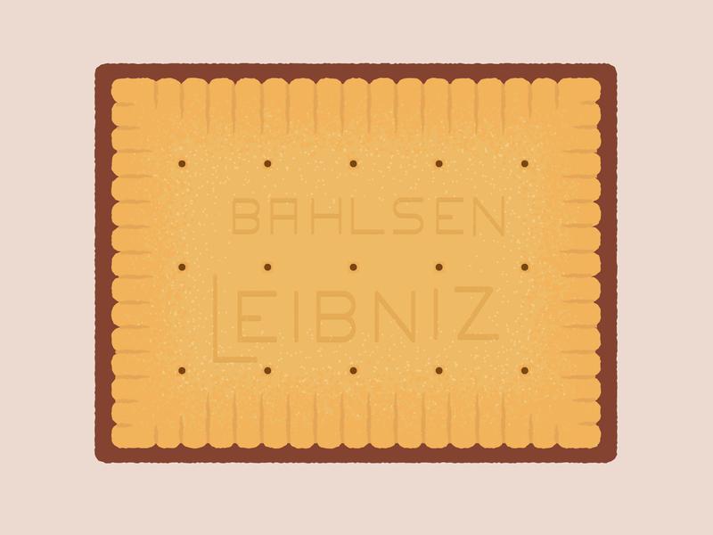 Daily Biscuit Challenge 44, The Choco Leibniz Biscuit digital digitalart leibniz chocolate biscuit edges rough design illustration texture vector