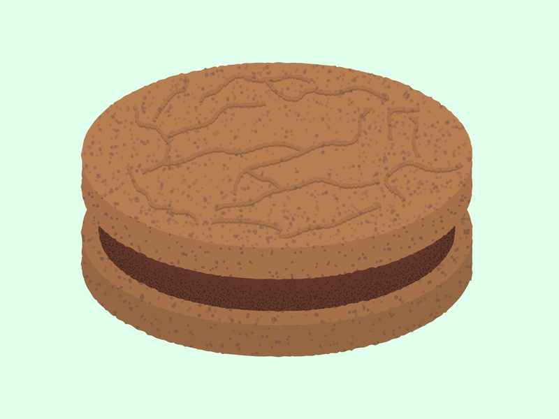 Daily Biscuit Challenge 45, The Double Chocolate Crunch Cream chocolate colour digital edges rough design biscuit texture illustration vector