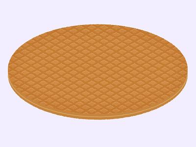 Daily Biscuit Challenge 46, The Stroopwafel biscuit dutch caramel waffle stroopwafel digital edges design rough illustration texture colour vector