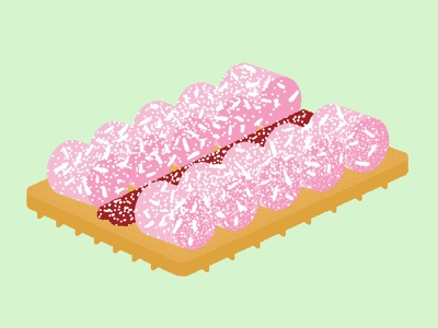 Daily Biscuit Challenge 47, The Jam Mallow Biscuit. vovo jam mallow colour edges biscuit design rough illustration texture vector
