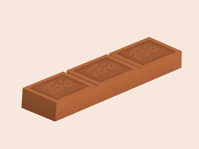 Daily Biscuit Challenge 48, The Trio Biscuit. digital tasty snack chocolate trio edges biscuit design rough illustration texture vector