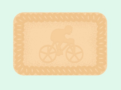 Daily Biscuit Challenge 49, The Fox's Sport Biscuit cycling sport digital character biscuit design rough illustration texture vector