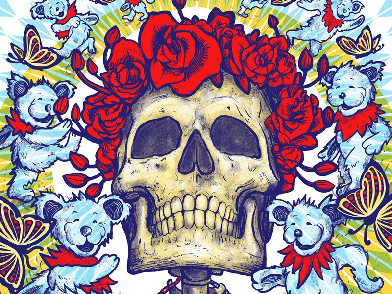 Dead And Company - Hartford Poster by Zeb Love on Dribbble