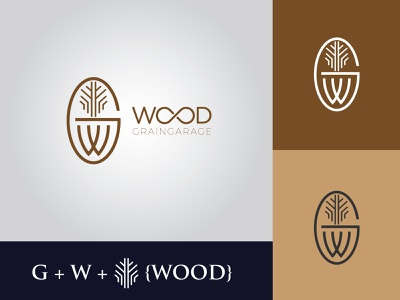 Wood Logo design flat logo creative design business logo creative logo branding illustration minimalist logo wood logo