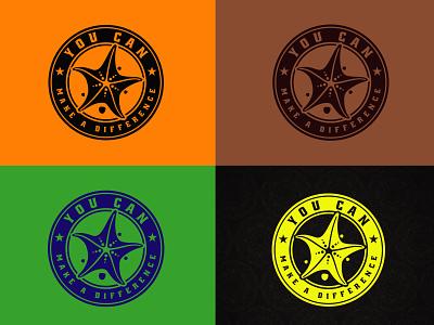 Retro Vintage Logo vector flat logo creative logo minimalist logo illustration business logo creative design branding logo design starfish retro logo vintage logo
