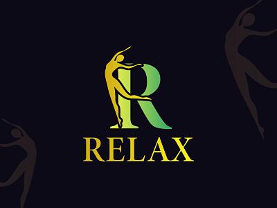 Relax minimal logo design branding flat logo minimalist logo design yoga logo meditation brand identity logo type logo collection minimal logo yoga logo design meditation logo fresh realx cool nature creative modern design