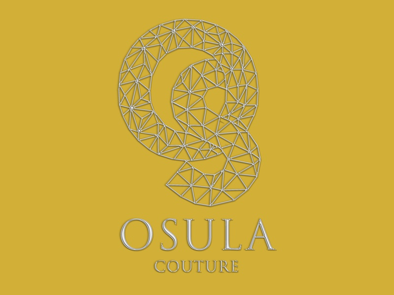 Osula Couture yellow gold burguer print design design logodesign logo clean design packaging packagedesign photography branding fashion silver geometric design geometry