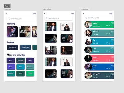 Music App web ux designer ux ui designer ui mobile app design mobile designer design app