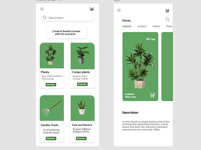 Plants Shop app web ux designer ux ui designer ui mobile app design mobile designer design app
