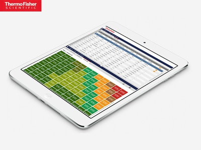Thermo Fisher Scientific app design mobile design