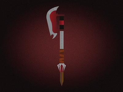 Buffy the Vampire Slayer Scythe slayer scythe vampire slayer buffy vector illustration vector adobe illustrator illustration