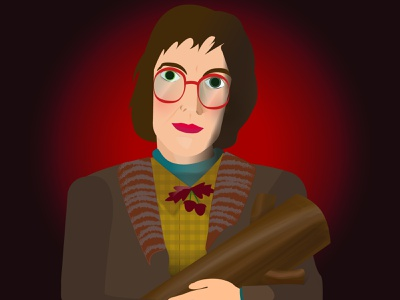 One Day My Log Will Have Something To Say About This fan art vector illustration adobe illustrator cc adobe illustrator log lady david lynch twin peaks