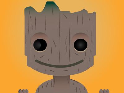 I am Groot fan art adobe illustrator illustration marvel guardians of the galaxy groot