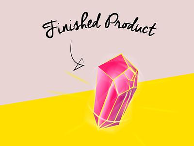 Process Pt. 3: Finished Product shiny gemstone gem