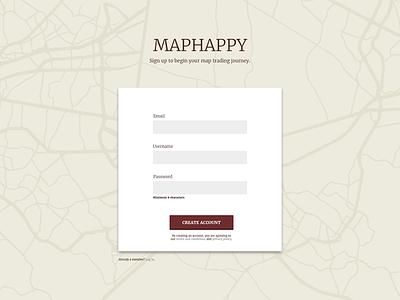 Maphappy Signup Form login signin user interface signup form