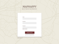 Maphappy Signup Form