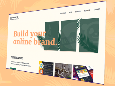 Baez Creative Website Update wordpress landing page rebrand web design website