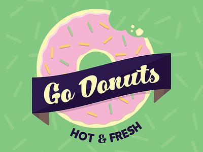 Go Donuts doughnut logo doughtnuts donuts