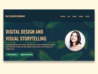 Portfolio Website Homepage portfolio design web designer user interface design ux ui design portfolio personal website website portfolio