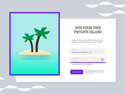 Daily UI Challenge – Day #1: Signup Forms adobe xd web design ux design ui design design challenge daily ux daily ui signup modal popup modal signup form ui