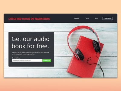 Daily UI Challenge – Day #3: Landing Page interface design lead generation lead gen landing page website ux ui daily ui 003 ui ux daily ui challenge