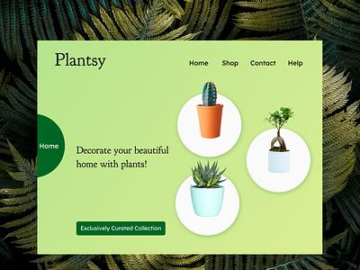 Plantsy - Website design plants uidesign webdesign website design appdesign ux ui