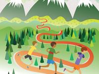 Town of Frisco Run the Rockies Half Marathon Poster