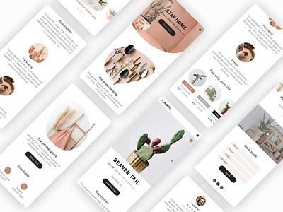 E- Commerce mockup branding web ui