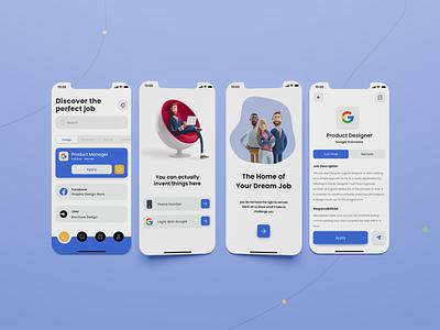 Verify Me - Job Searching iOS App shine naukari linkedin indeed illustration job portal job design app graphic design ui