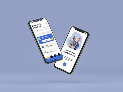 Verify Me - Job Searching iOS App job searching verify me ux ui illustration linkedin job job portal indeed graphic design design app