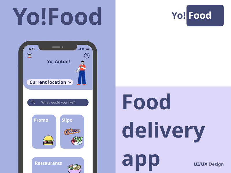 Yo!Food Delivery App UI/UX mobile figma user designs mobileapp delivery food ux ui design app