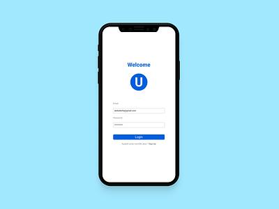 UI Design Form Login design ui ui design mobile app app
