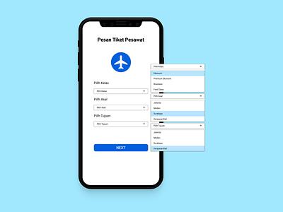 UI Design Pesan Tiket Pesawat ui design mobile app design app