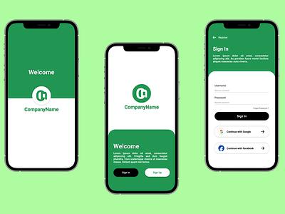 UI Design Landing Mobile App flat ui typography ui design mobile app design app