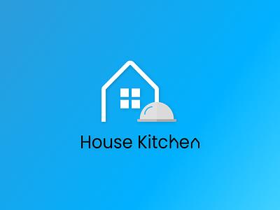 Logo House Kitchen flat branding icon typography vector logo illustration