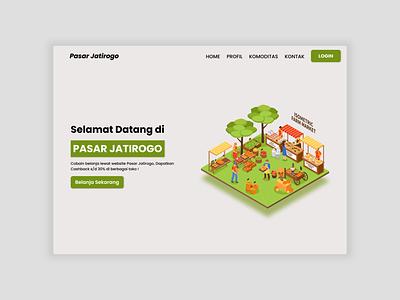 Market Website Landing Page Exploration webdesign web ui design design