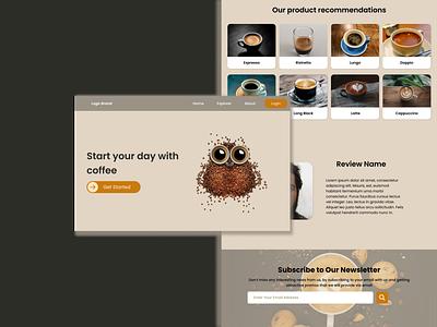 UI Design Web Coffee Shop branding ui website website design website ui design ui design
