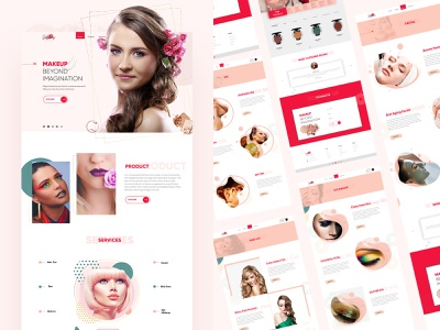 The Complete Makeup Artist branding creative website concept makeup kit facial hair facial kit hair spa website design makeup website makeup artist neat and clean website modern interface