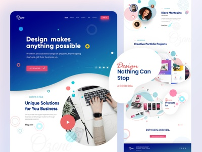 Landing Page for  Ozone Creative Agency branding website design website landing page agency landing page agency website landing creativity landingpage landing page design design neat and clean website modern