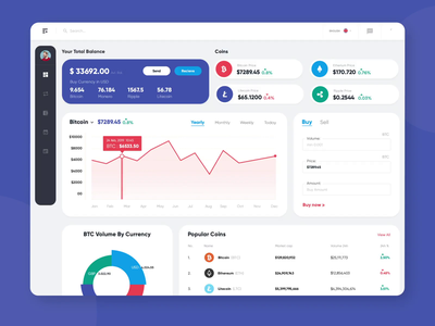 Crypto app dashboard minimalistic design crypto exchange ui modern product design mobile crypto wallet creative website crypto currency animation after effects branding