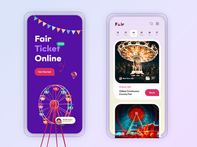 Events App Design app india creative agency master creationz creative branding figmadesign mobile ui mobile app design ticket app fair booking app events app app design app ui