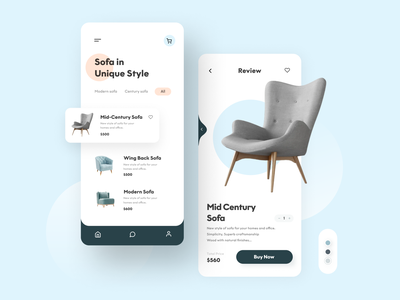 Furniture e-commerce App Designs | Made-to-measure store user interface design user flow flow android app design ios app design mobile app design ux ui ecommerce furniture store e-commerce shop minimalist ecommerce store ecommerce app design branding interface creative modern app design