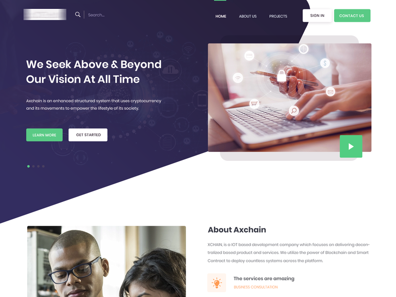 Axchain popular designers tools uxui website modern discover neat and clean simple interface