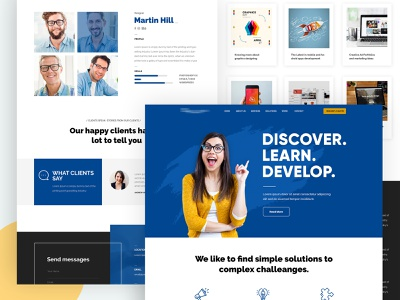 Homepage design ui popular dashboards design discover illustration designers modern creative website neat and clean homepage interface