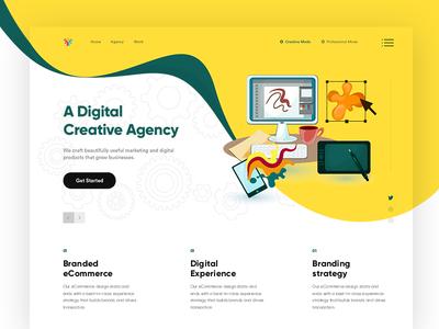 Creative Website colorful ui creative agency website modern design interface