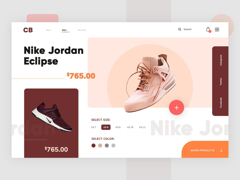 Nike Shoe Design: nike dribbble creative agency ui branding discover designers creative neat and clean colorful website modern design interface