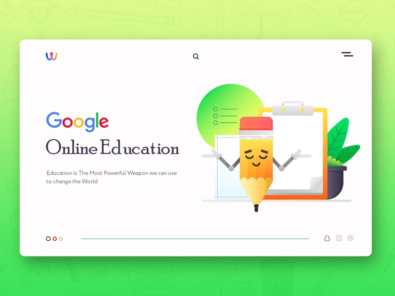 Education Landing page branding creative agency discover designers creative neat and clean colorful website modern design interface